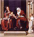 San Bernardo venerando a la Virgen con el Niño y Santa Ana (Museo de Bellas Artes de Valencia).jpg