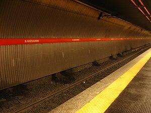 San Giovanni (Rome Metro) - Image: San Giovanni (banchina)