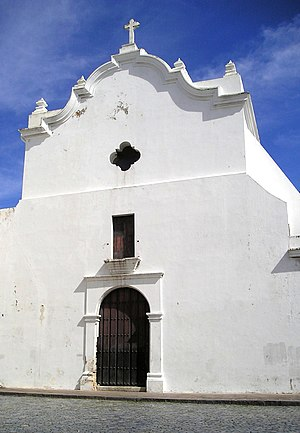 San José Church - View of the front entrance of the church