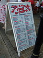 Sandwich board, Rock English Fish & Chips, Casemates Square, Gibraltar.jpg