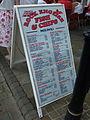 Sandwich board, Rock English Fish & Chips, Casemates Square, Gibraltar.jpg