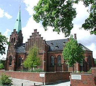 St. John's Church, Copenhagen - Image: Sankt Johannes Kirke Copenhagen side