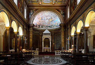 Sant'Agata de' Goti, Rome - Interior of the church