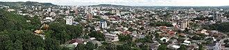 Santa Cruz do Sul - Panorama of Santa Cruz do Sul in 2017, taken from the north side of the city