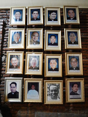 Eddie Panlilio - Eddie T. Panlilio and 15 other priests from Minalin, Pampanga  (Santa Monica Parish Church museum)