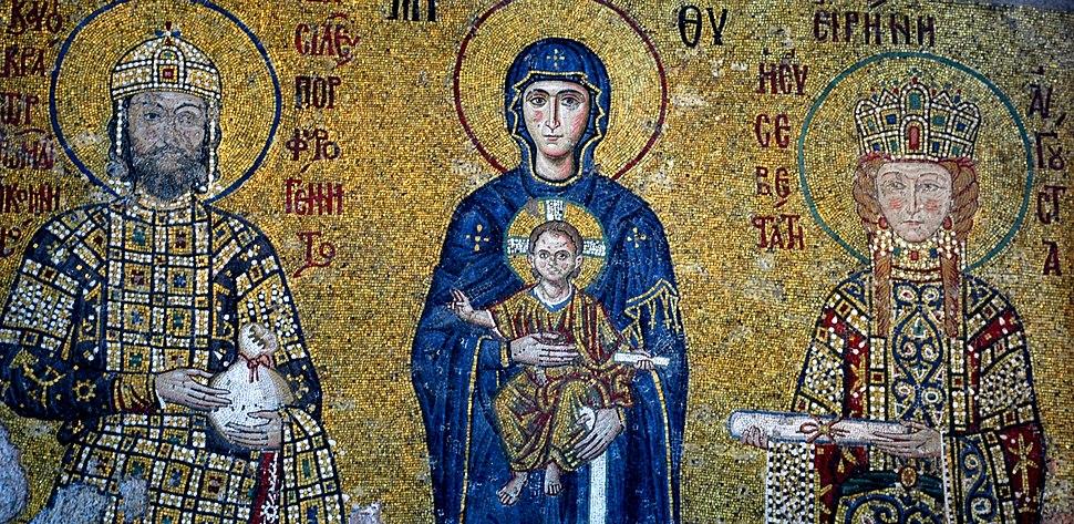 Santa Sofia - Mosaic de Joan II Comnè i la seva esposa, Irene