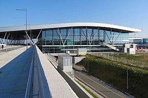 Santiago de Compostela Airport - Image: Santiago de Compostela LEST Terminal
