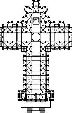 Santiago de Compostela plan vertical