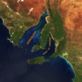 Satellite image of Spencer Gulf and Gulf St Vincent, South Australia (NASA image).png
