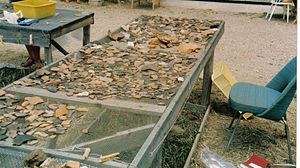 Satricum -  Potsherding from Satricum, 1983.