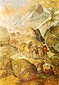 Saumzug auf einem Alpenübergang, Gemälde.jpg
