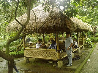 Sundanese cuisine - Sundanese saung bamboo pavilion restaurant.