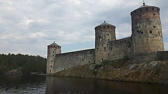 Saimaa - Savonlinna fort on Lake Saimaa, Finland.