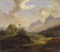 Scenery from Kvikkjokk (Kung Karl XV) - Nationalmuseum - 21704.tif
