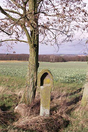 Basalt cross - Image: Schöpflöffel Wassenach