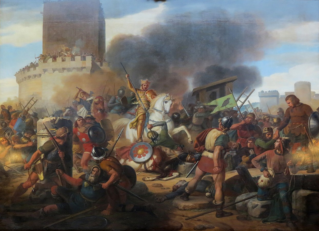 Le comte Eudes défend Paris contre les Normands