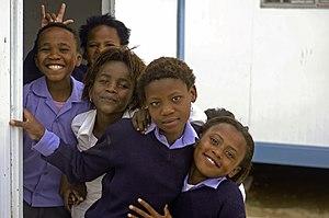 Migrant education - School children in Hermanus, South Africa