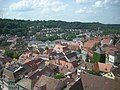 Schwäbisch Hall Jul 2012 23 (view from St. Michael belltower).JPG