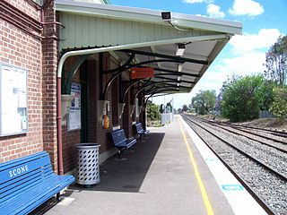 Scone railway station
