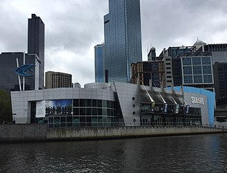 Sea Life Melbourne Aquarium - the Sea Life Melbourne Aquarium seen from the Yarra River in February 2018