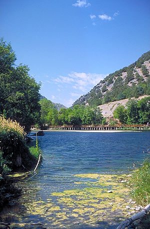 Logan Canyon - Lake at Second Dam
