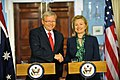 Secretary Clinton Shakes Hands With Australian Foreign Minister Rudd (5681633682).jpg