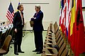 Secretary Kerry Holds a Brief Pull-Aside Meeting With Norwegian Foreign Minister Brende at NATO Headquarters in Brussels (31483307405).jpg