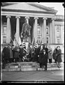 Secretary of Treasury Mellon pays honor to Uncle Sam's first Secretary of Treasury. Secretary of the Treasury Andrew Mellon placing a wreath at the base of the statue of Alexander Hamilton LCCN2016889134.jpg