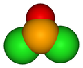 3D model of the selenium oxydichloride molecule