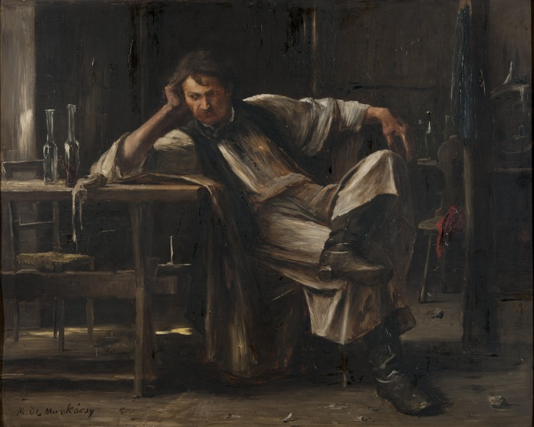 Self-contempt (Mihály von Munkaczy) - Nationalmuseum - 18732