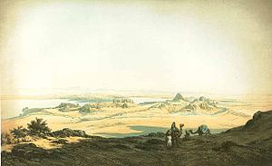 Kumma (Nubia) - Semna and Kumma, view from the west, mid-19th century