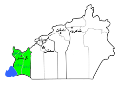 Garmsar County highlighted in Semnan Province
