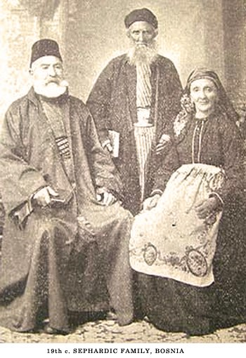 Sephardic family in Bosnia, 19th century
