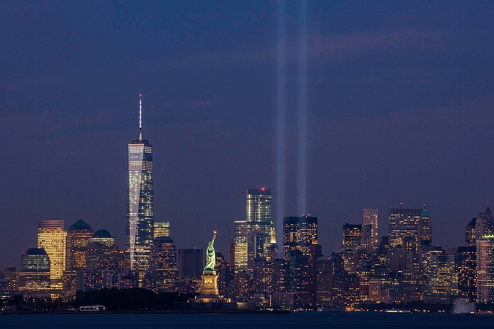 September 11th Tribute in Light from Bayonne, New Jersey