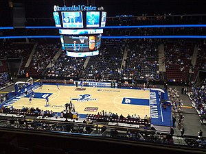 Seton Hall Pirates men's basketball - Seton Hall home game at the Prudential Center in Newark, New Jersey.