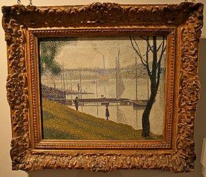 Bridget Riley - Image: Seurat, The Bridge at Courbevoie, Courtauld Gallery