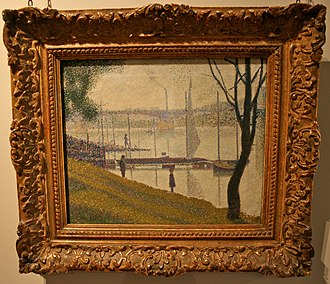 Bridget Riley - Image: Seurat, The Bridge at Courbevoie, Courtauld Gallery