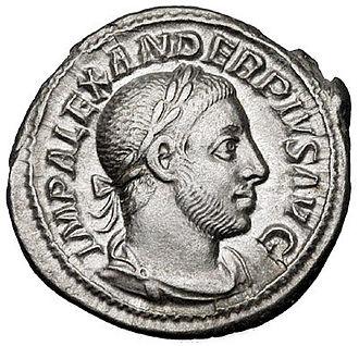 Severus Alexander - Denarius of Severus Alexander.