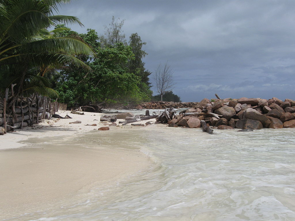 Beach of Praslin in the Seychelles