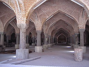 Shabestan - Shabestan of Jama Masjid of Tabriz-as Tabriz does not have a hot climate, the Shabestan here was not built underground.
