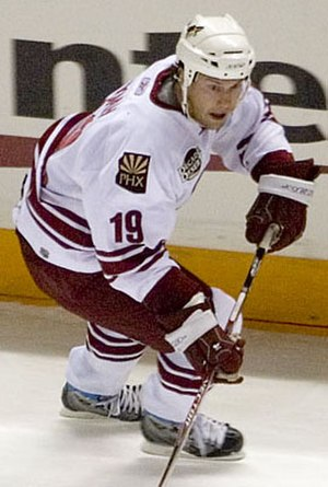 Arizona Coyotes - Shane Doan was team captain from 2003 to 2017. Holding the franchise record for games played, he was the last Coyotes player to have also played in Winnipeg.