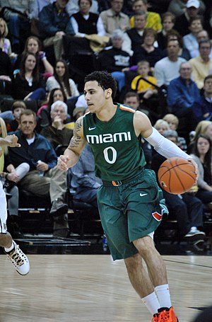Shane Larkin - Shane Larkin playing for Miami Hurricanes in 2013
