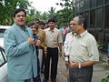 Shatrughan Sinha and Tapan Kumar Ganguly - Maritime Centre Inauguration - Science City - Kolkata 2003-10-17 00430.JPG