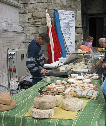 Cheese seller in France