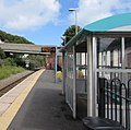 Shelter and electronic display board at Fishguard and Goodwick station - geograph.org.uk - 4601960.jpg