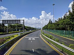 Shenzhen Bay Bridge To HK on Shenzhen Side.jpg