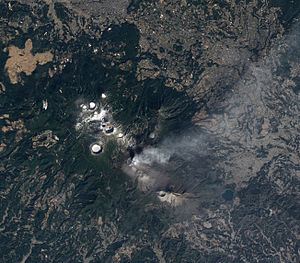 Mount Kirishima - Image: Shinmoe dake Volcano Erupts on Kyushu Feb 2011