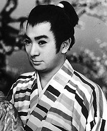 Shintarō Katsu in Hatsu-haru Tanuki Goten 1959.jpg