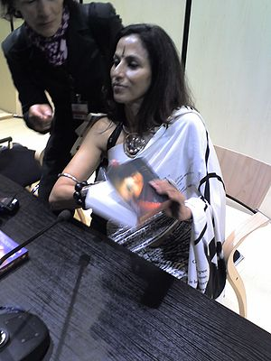 Author Shobha De signing copies of her book St...