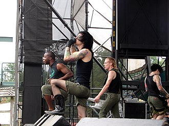 Showbread (band) - Showbread performing in Mount Airy, PA in August 2006.